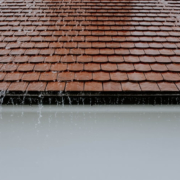 heavy rainfall on rooftop